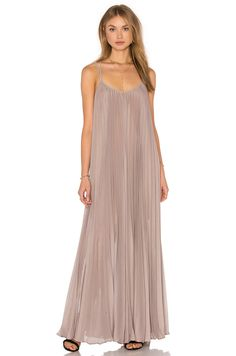 BCBGMAXAZRIA Isadona Maxi Dress in Hazelnut | REVOLVE