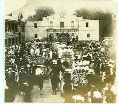 In 1891, a group of ladies decorated horse-drawn carriages, paraded in front of the Alamo, and pelted each other with flower blossoms. The parade was organized to honor the heroes from the battles of the Alamo and San Jacinto.  From this humble beginning was born Fiesta San Antonio, an eleven-day citywide party.  The parade known as the Battle of the Flowers is still one of the most popular events.