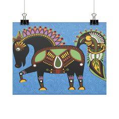 Equestrian Apparel - Inca Horse - Horizontal Fine Art Prints (Posters) - $9.00