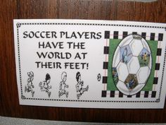 Soccer Players Feet Refrigerator Magnet Business by Kats3meows, $4.99