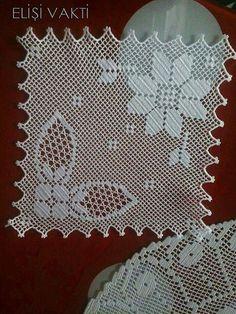 Spitzen-Küchenset Modelle - Jewellery For Lady Crochet Curtain Pattern, Crochet Doily Diagram, Crochet Curtains, Curtain Patterns, Filet Crochet, Crochet Patterns, Knit Slippers Free Pattern, Knitted Slippers, Crochet Placemats