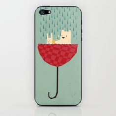 umbrella bath time! iPhone & iPod Skin by Yetiland - $15.00