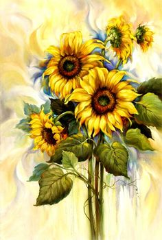 Sunflowers in the Breeze By Kathwren Jenkins