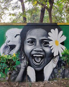 Graffiti, Now A Days, True Happiness, Dream City, Mumbai, India, Happy, Artist, People