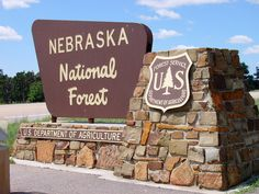 Nebraska National Forest Sign (Thomas County, Nebraska, USA)