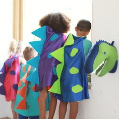 This listing is for one Dinosaur Cape Costume Choose from 4 color combinations…