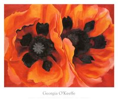 "O'Keeffe (1887 – 1986) was an innovative modernist who diverged from accepted artistic styles to paint images that were unlike any she had been taught. Her paintings, like ""Oriental Poppies, 1928,"" accentuate the beauty and importance of the flower by magnifying it to monumental size. By painting enormous, vibrantly hued flowers, the art conveyed O'Keeffe's wonderment at nature by removing the subjects from any recognizable context and transforming their organic forms into powerful abstracts."