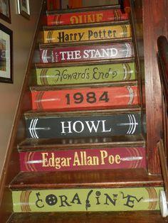 Las escaleras perfectas para ir a una  biblioteca