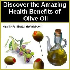 Discover the Amazing Health Benefits of Olive Oil. Olive oil has a major place in the Mediterranean diet, and the principal aspect of this diet include proportionally high consumption of olive oil. Olive oil contains a very high level of monounsaturated fats, most notably oleic acid, which studies suggest may be linked to a reduction in coronary heart disease risk. There is also evidence that the antioxidants in olive oil improve cholesterol regulation and reduce LDL (bad cholesterol) levels