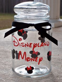 Personalized Disney Money Jar by Announciation on Etsy, $11.00