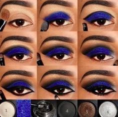 makeup step by step Step By Step Blue Eye Makeup Pictures, Photos, And Images For . Step By Step Blue Pictures, Photos, and Images for eye makeup step by step - Eye Makeup Blue Eye Makeup, Smokey Eye Makeup, Love Makeup, Makeup Tips, Beauty Makeup, Makeup Looks, Hair Makeup, Makeup Ideas, Blue Smokey Eye