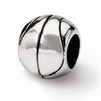 $27 Sterling Silver Reflections Basketball Bead