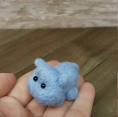 Needle Felt Hippo Hippo Decor Mini Hippo Wool by MatildaAugust