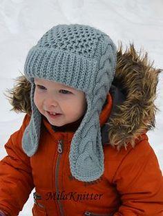 Baby Knitting Patterns Ravelry Ravelry: Winterberry Earflap Hat pattern by Tatsiana Matsiuk Knitted Hats Kids, Baby Hats Knitting, Knitting For Kids, Knit Hats, Baby Hat Knitting Pattern, Knitting Patterns Boys, Baby Patterns, Sewing Patterns, Crochet Patterns