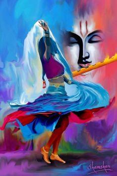 HappyShappy - India's Own Social Commerce Platform Lord Krishna Images, Radha Krishna Pictures, Krishna Radha, Baby Krishna, Meditation France, Radhe Krishna Wallpapers, Yoga Lyon, Indian Art Paintings, Canvas Paintings
