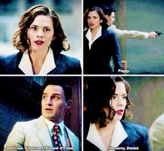 Peggy and Daniel. 1x05. I feel like his trust is going to be the hardest to gain back....and that breaks my heart. <<<Fortunately, his was the easiest to earn back. :)
