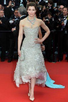 The 66th Cannes Film Festival 2013 Red Carpet, Jessica Biel in Marchesa Cannes Film Festival, Film Market and Short Film Corner 2014 - http://www.cloud21.com/2/cannes-film-festival-2014