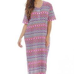 4ceaf1fb1b 4360M-1 Dreamcrest Short Sleeve Nightgown   Sleep Dress for Women    Sleepwear Plus Size