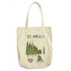 Yosemite National Park Tote Bag by Naomi Sloman