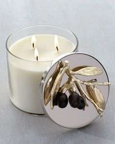 "Michael Aram ""Olive Branch"" Candle - Neiman Marcus"