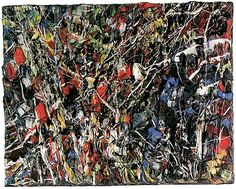 By Jean Paul Riopelle (1923 - 2002), a Quebec painter who spent much of his career in France