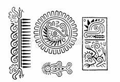 Old Peruvian Tattoos Royalty Free Stock Vector Art Illustration