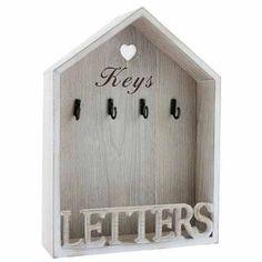 Vintage Letter Rack & Key Holder Hooks - Natural. Visit us now and ENJOY 10% OFF + FREE SHIPPING on all orders
