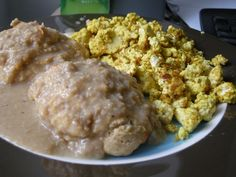Vegan Low Fat Whole Wheat Southern-Style Biscuits & Vegan Fat-Free Sausage Gravy Recipe