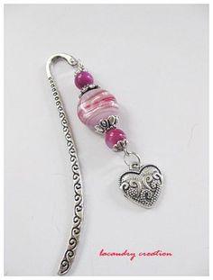 bojoux marque page mauve rose coeur saint valention lacaudry création
