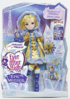 Ever After High Epic Winter Doll Ever After High experiences a magical snow day in the all Netflix Original Series Epic Winter, but is it to be forever after? Ashlynn Ella, Briar Beauty, and Blondie L