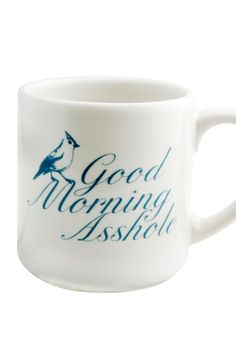 Throw a lil' sass while serving up morning coffee to the crew with Fishs Eddy's Good Morning Asshole Mug.Dishwasher and microwave safe. Coffee Love, Coffee Break, Coffee Cups, Coffee Art, Morning Coffee, Coffee Humor, Funny Coffee, Cute Mugs, Mud Pie