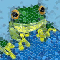 Garden Wall Plaque Mosaic Frog Multi - Folksy