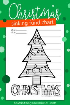 Christmas comes the same time every year, yet most of us aren't financially prepared. Sinking Funds are here to help! The Christmas Sinking Fund Chart will give you the visual you need to save and pay cash for your Christmas shopping!