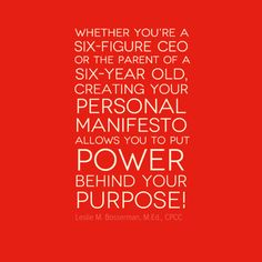 @Leslie Bosserman #LeadWithIntention #MainfestoMakeover  www.LeadWithIntention.com