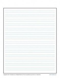 printable writing paper template Lined Writing Paper for Kids Penmanship Practice, Writing Practice, Writing Skills, Lined Paper For Kids, Write My Paper, Printable Lined Paper, Lined Writing Paper, Writing Lines, Improve Your Handwriting