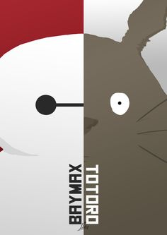 Totoro and Baymax by Claien.deviantart.com on @DeviantArt