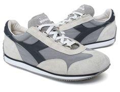 Diadora Womens Heritage Eqipe Stone Wash Gray Running Shoes Sneakers  #diadora #RunningCrossTraining
