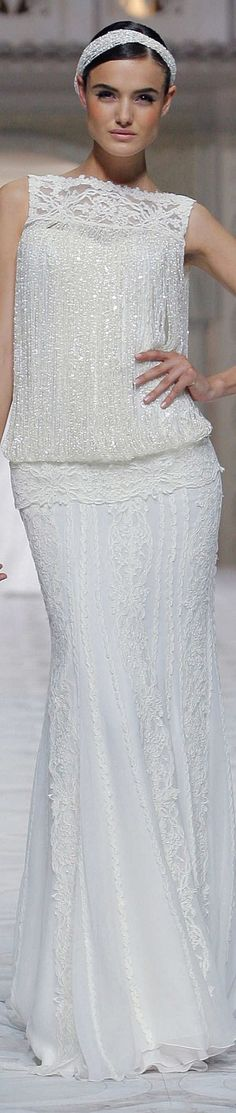 Pronovias, Spring 2015 ~ Shimmering Evening Gown, White