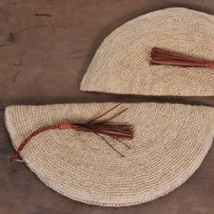 Size: x Colour: Natural Material: Raffia and Leather Handmade in: Africa Accessories Shop, Burlap, Reusable Tote Bags, Moon, Leather, Handmade, Clothes, The Moon, Outfits