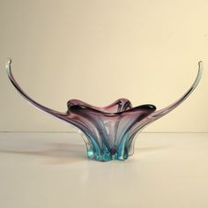 Big Murano glass bowl. Italy 1950 - 1955.