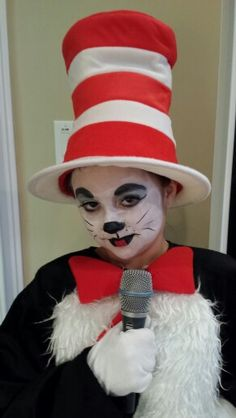 Cat in the hat Seussical Costumes, Halloween Costumes, Kids Makeup, Cat Hat,
