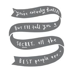 All the best people are bonkers