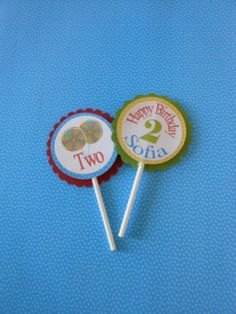 Candy Land Cupcake Toppers with name and age by ASweetCelebration, $18.00