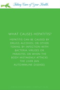 #Hepatitis viruses are the most common cause of hepatitis in the world but other infections, toxic substances (e.g. alcohol, certain drugs), and autoimmune diseases can also cause hepatitis.