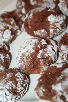 Paula Deen's Chocolate Gooey Butter Cookies. Can also use funfetti mix in place of chocolate mix!