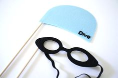 Photo booth Props. Wedding Photo Props. Mustache. Photo Props. Mustache on a Stick. Props on a Stick - The Swimmers Envy Maro Kit. $11.95, via Etsy.