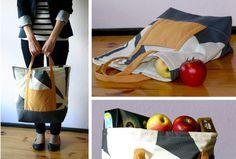 torba, szycie krok po kroku, jak uszyć torbę, siatka