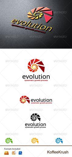 Evolution Logo  PSD Template • Download ➝ https://graphicriver.net/item/evolution-logo/5428754?ref=pxcr