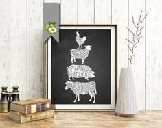 butcher cuts, butcher art, meat cuts, kitchen printable, kitchen art, kitchen printable, cuts of meat, cafe art, funky art, chalkboard Black Background Images, Cafe Art, Funky Art, Etsy Uk, Kitchen Art, Free Coloring, Chalkboard, Card Stock, Artsy