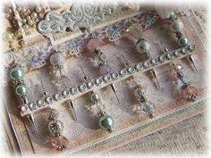 Tattered Treasures: Christmas Easel Card and Stick Pin Set